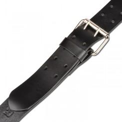 חגורת עור דולמר בצבע שחור  עם אבזם כפול 988.048.412
