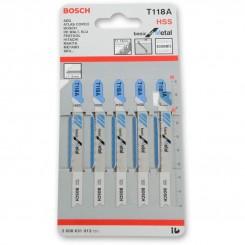 סט של 5 להבי מסור אנכי בוש לחיתוך מתכת T118A 2608631013 ש. ברדוגו